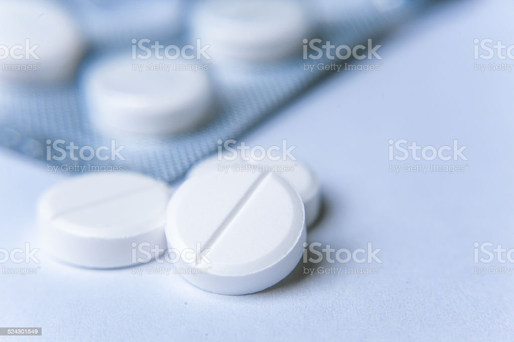 tablets and holder stock photo