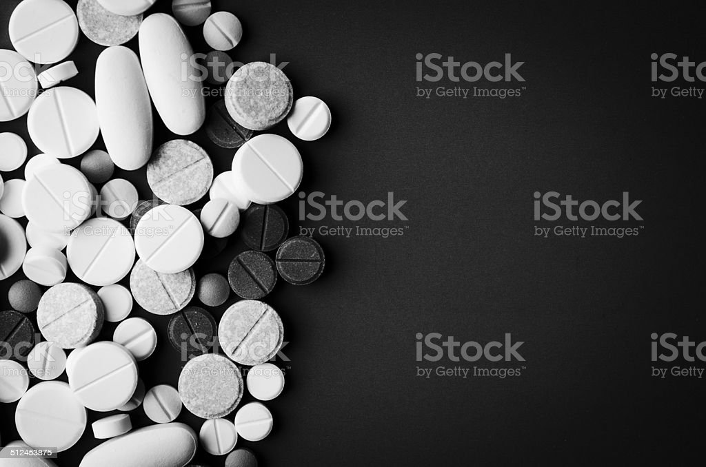 tablets and pills stock photo
