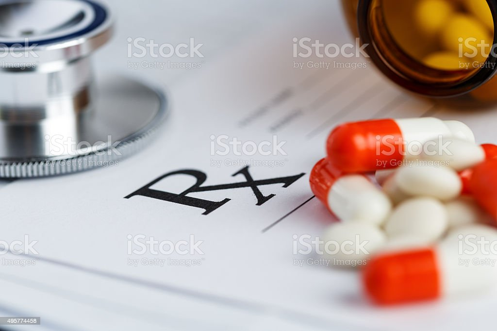 Tablets and recipe stock photo