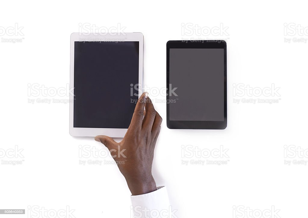 Tablets in tango stock photo