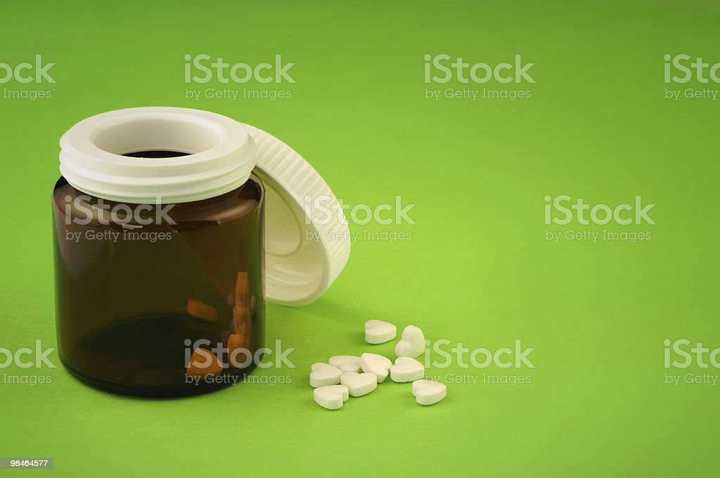 Tablets in the form of heart royalty-free stock photo