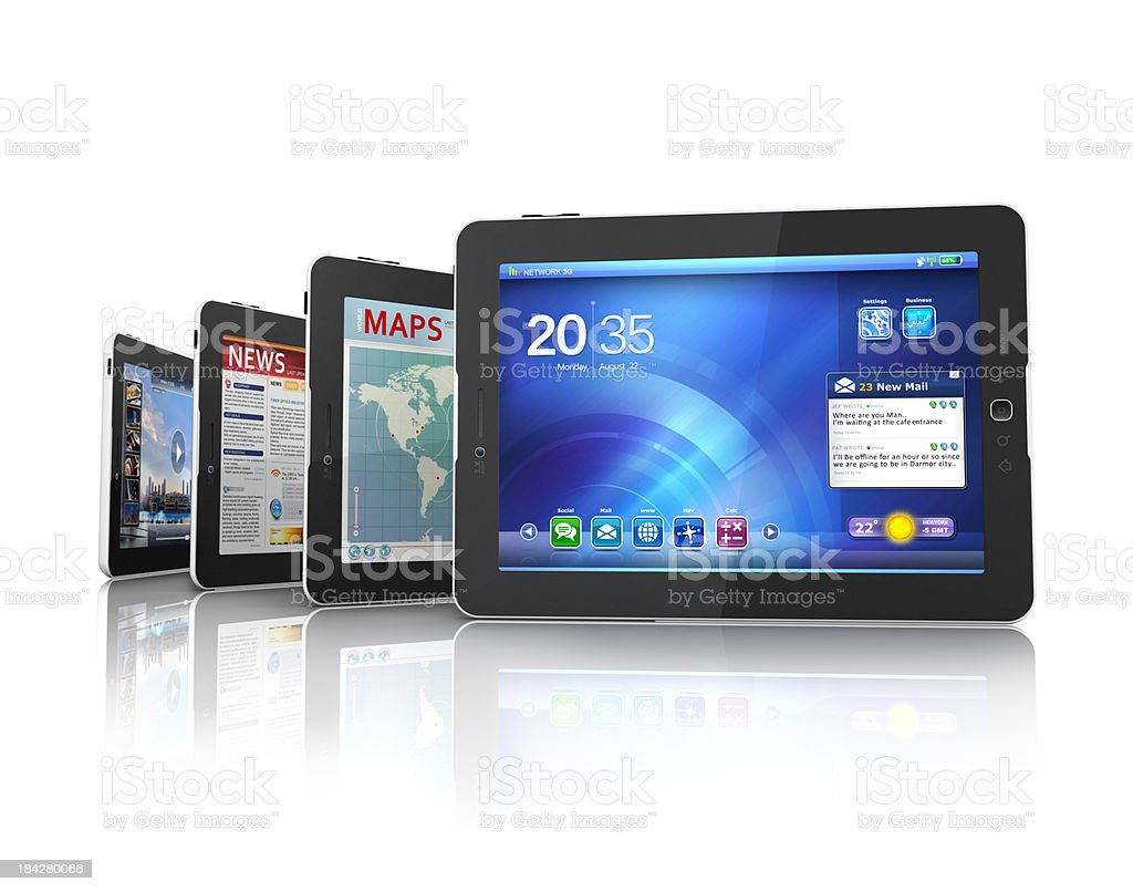 tablets interface stock photo