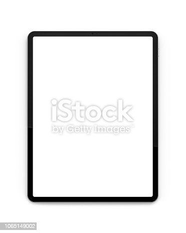 Tablets isolated on a white background with a blank screen.Tablets isolated on a white background with a blank screen.