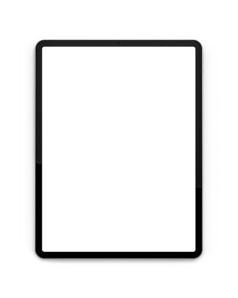 tablets with a blank screen. - вертикальный стоковые фото и изображения