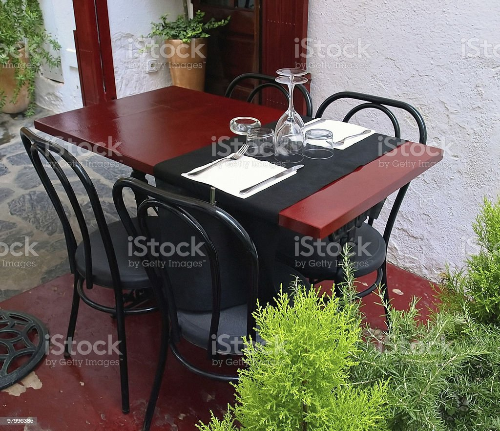 tableware table royalty free stockfoto