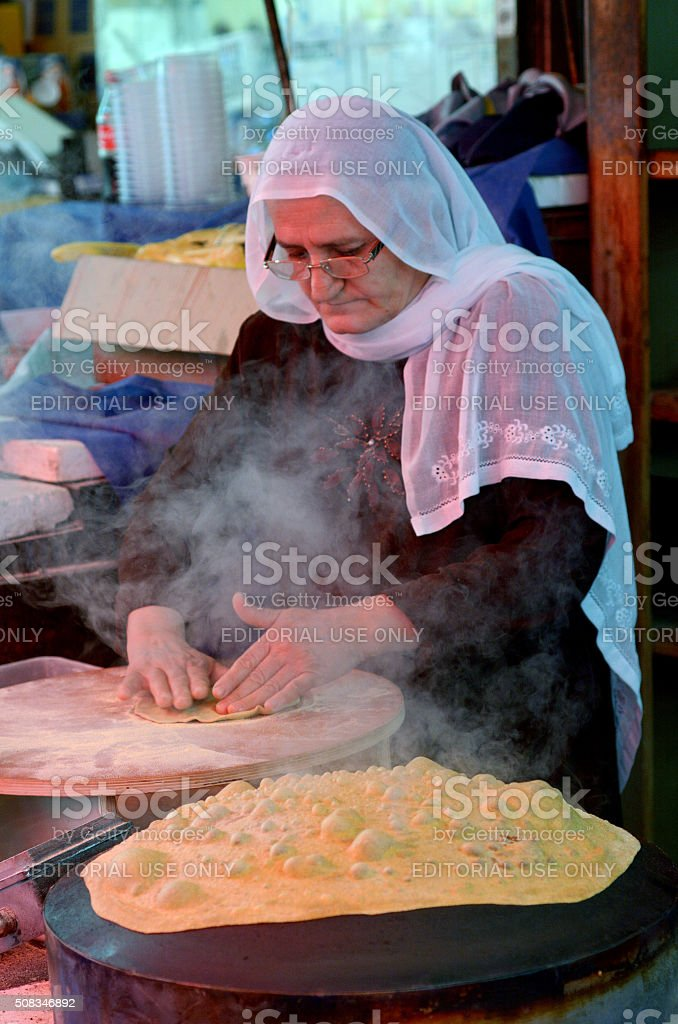 Taboon bread stock photo