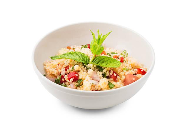 taboule - couscous salat minze stock-fotos und bilder