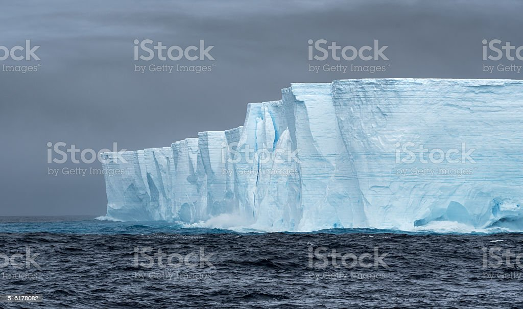 Tabular iceberg in Antarctica stock photo
