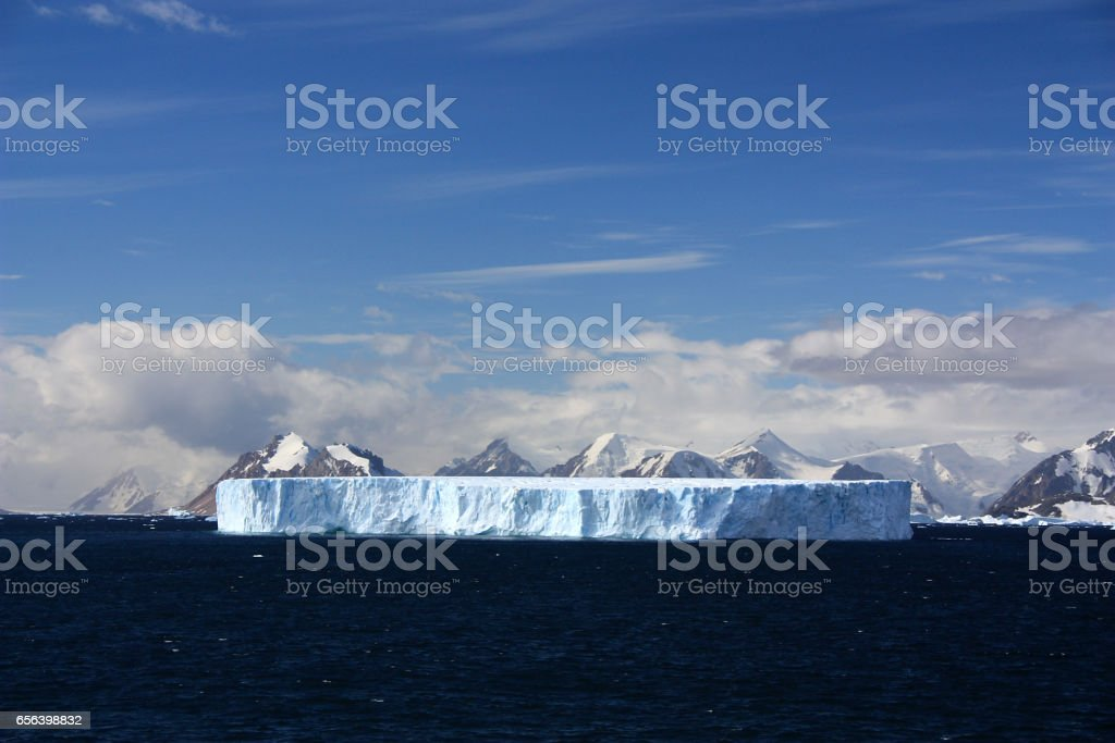 Tabular iceberg-Antarctic stock photo