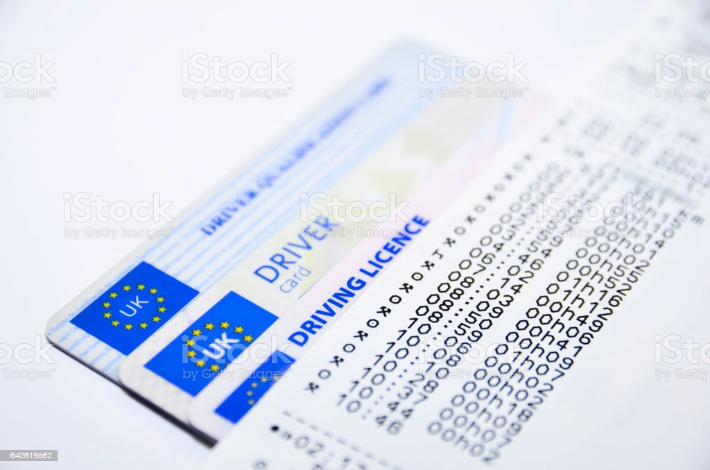 Tachograph print out stock photo
