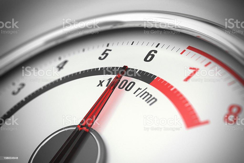 Tachometer Close Up stock photo