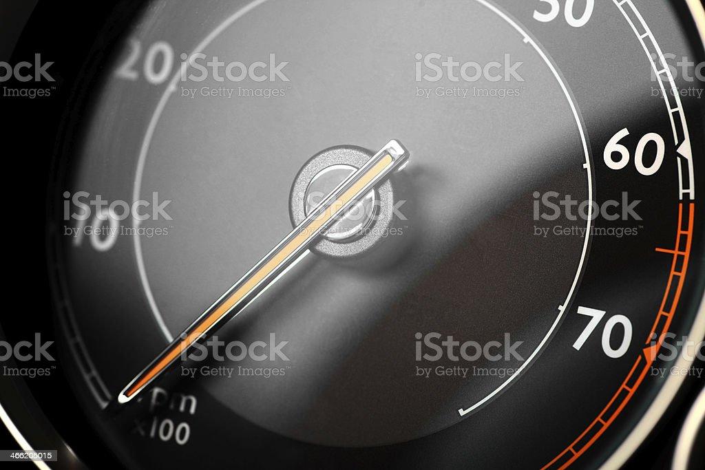 Tachometer detail royalty-free stock photo