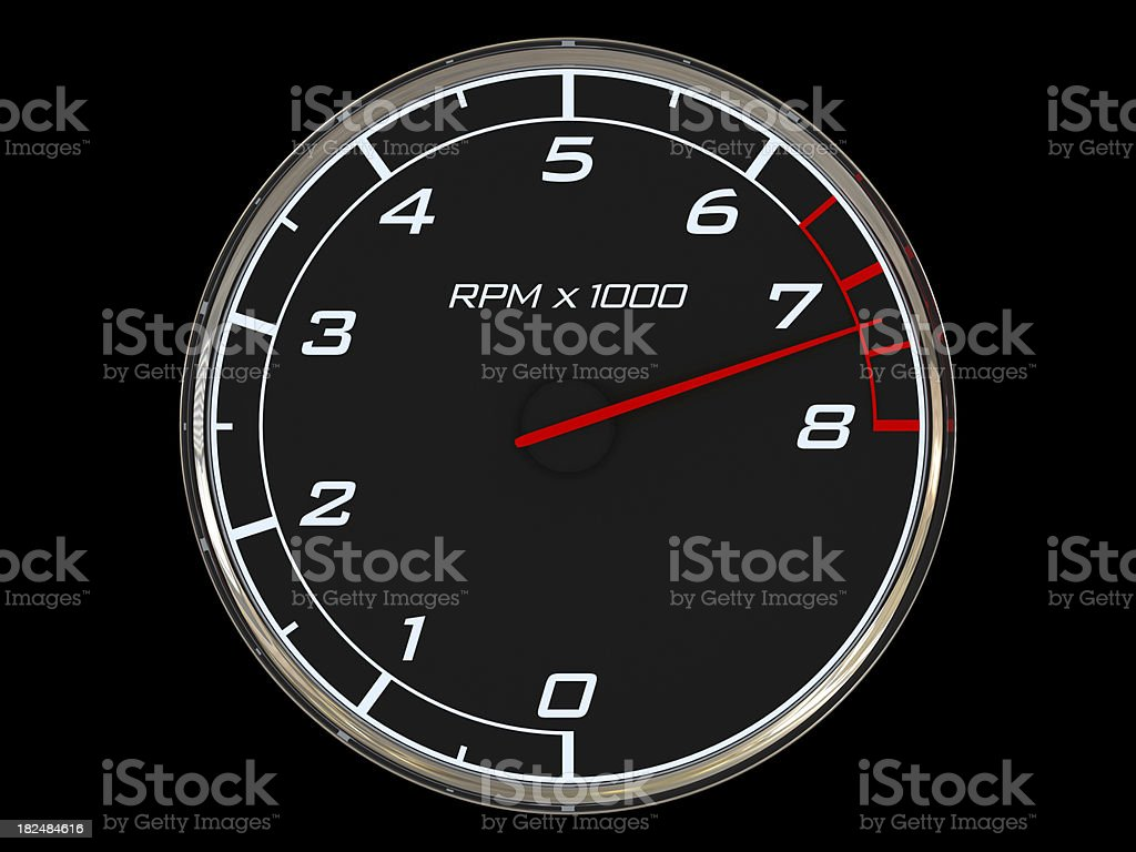 Tachometer - highest revolutions royalty-free stock photo