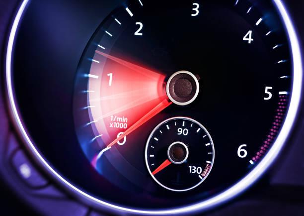 tachometer of car stock photo