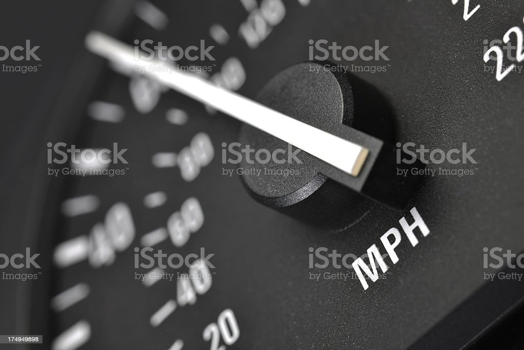 Tachometer or speedo stock photo