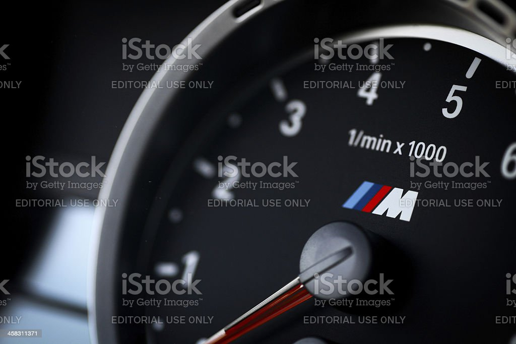 BMW M3 tachometer royalty-free stock photo