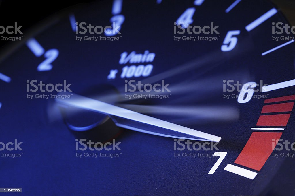 tachometer  At The Edge Of Stock Photo