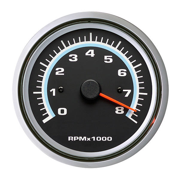 Tachometer, Speedometer, Isolated on white stock photo