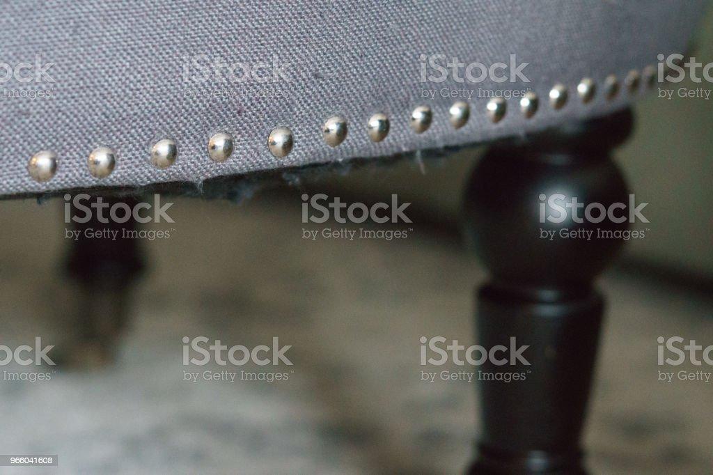Tack klinknagels in meubels - Royalty-free Blauw Stockfoto