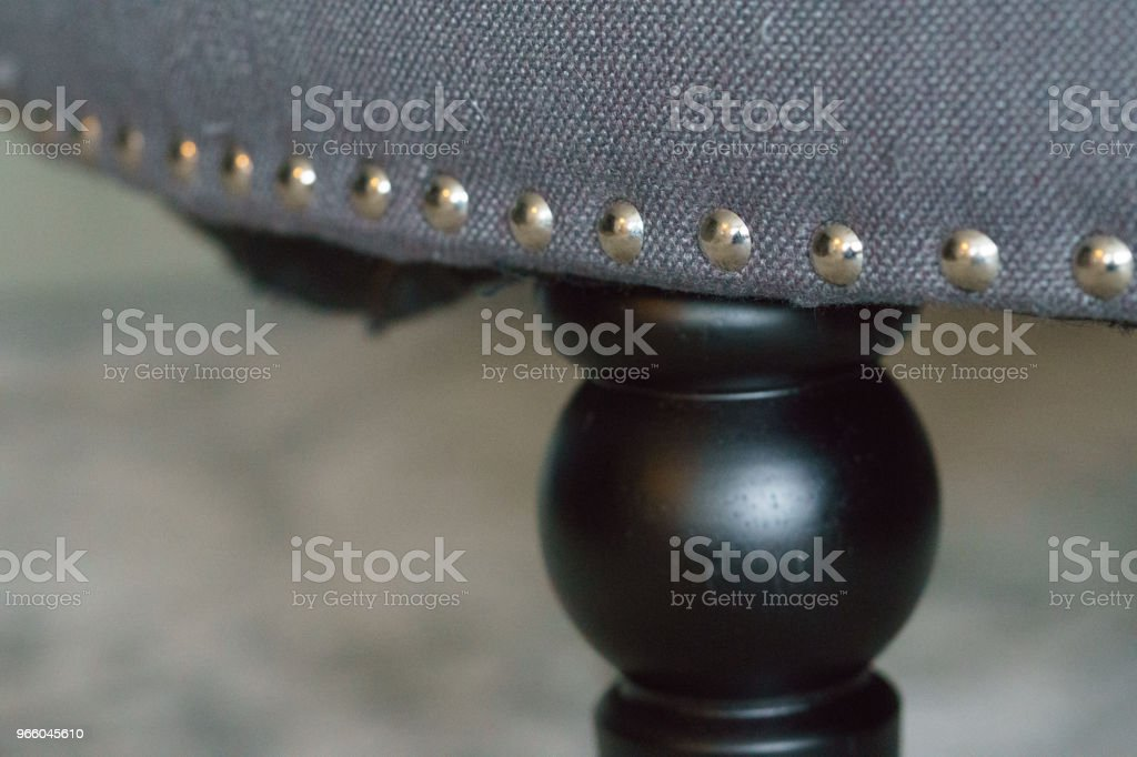 Tack-Nieten in Möbel - Lizenzfrei Altertümlich Stock-Foto