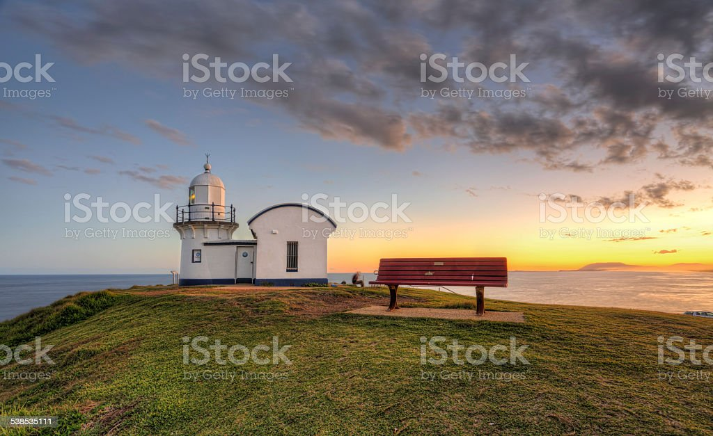 Tacking Point Lighthouse Port Macquarie stock photo