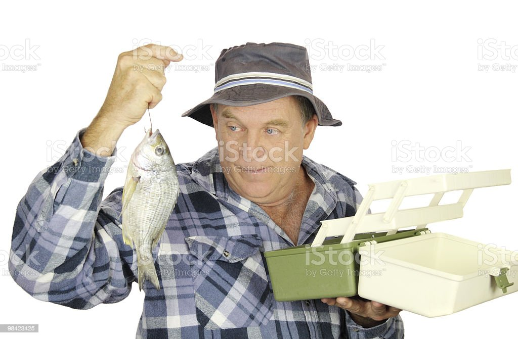 Tackle Box Fisherman royalty-free stock photo