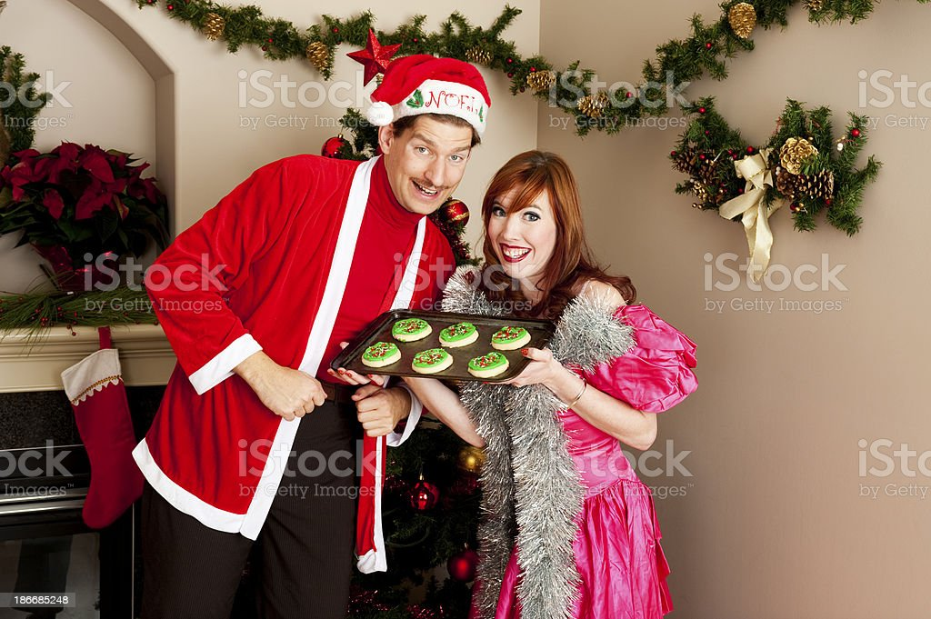 Tacky Christmas portrait stock photo