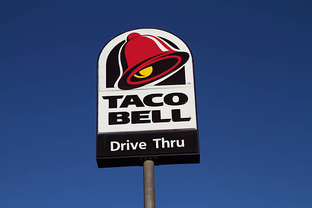 Taco Bell sign stock photo