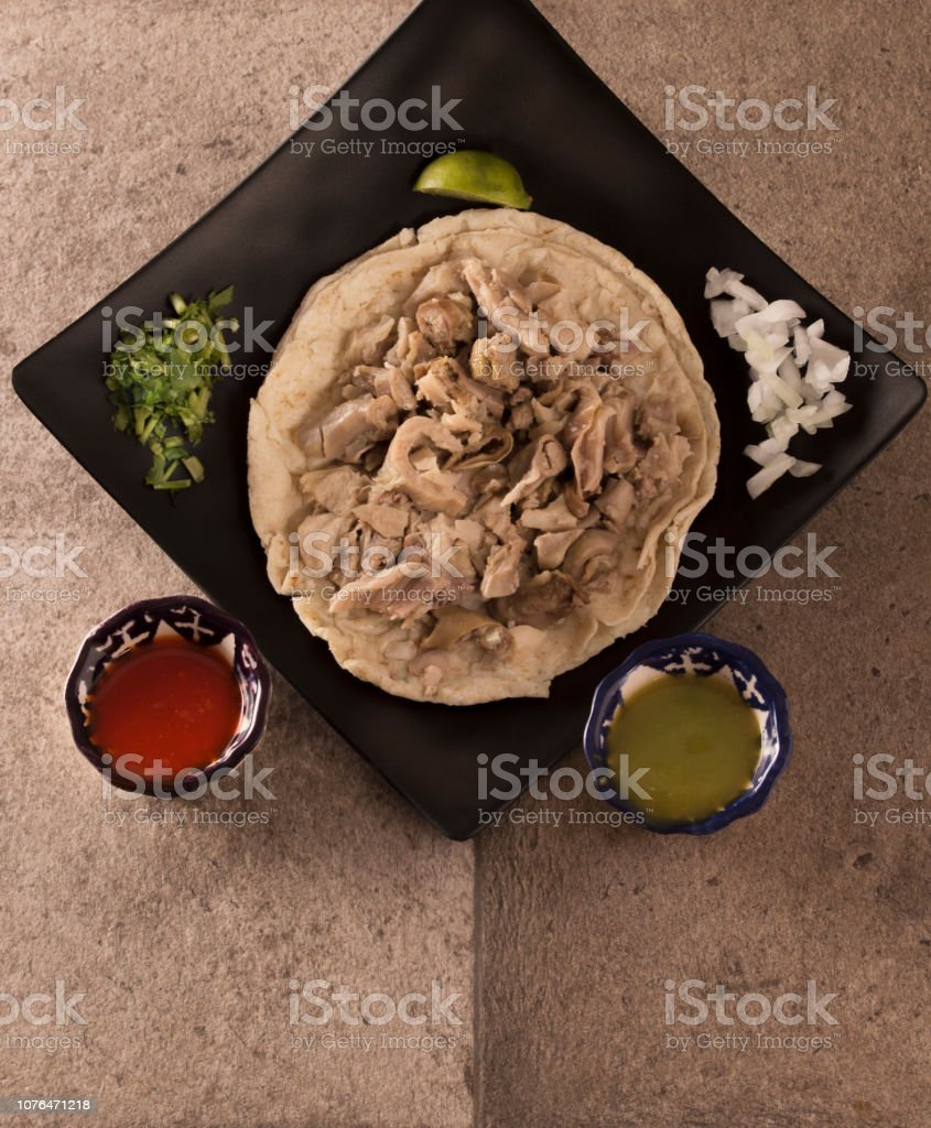 Taco de Buche stock photo