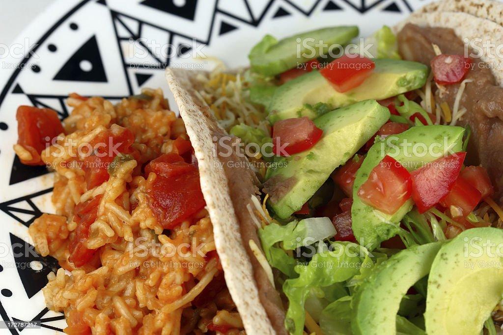 Taco Meal royalty-free stock photo
