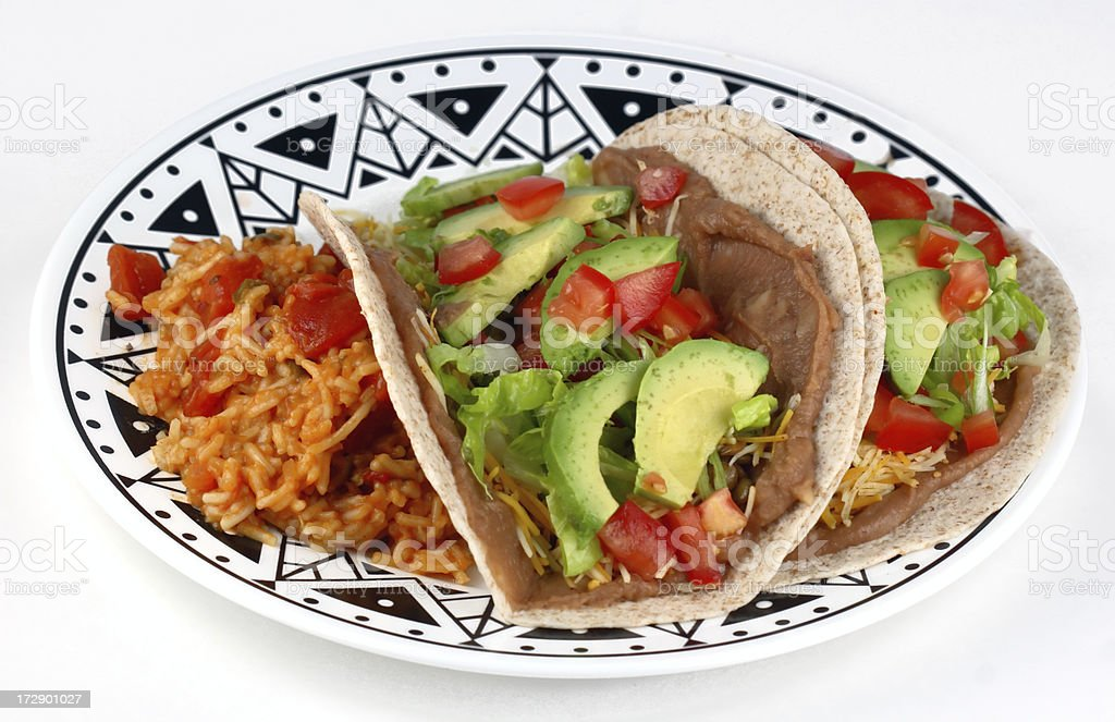 Taco Meal royalty-free stock photo