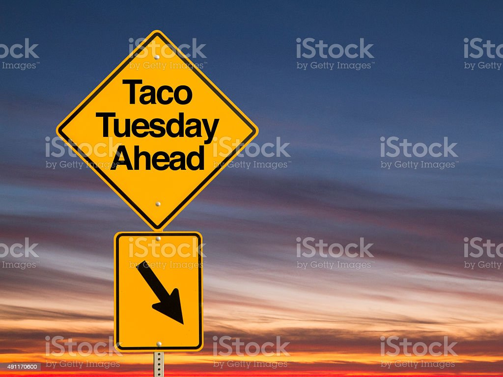 Taco Night Ahead stock photo