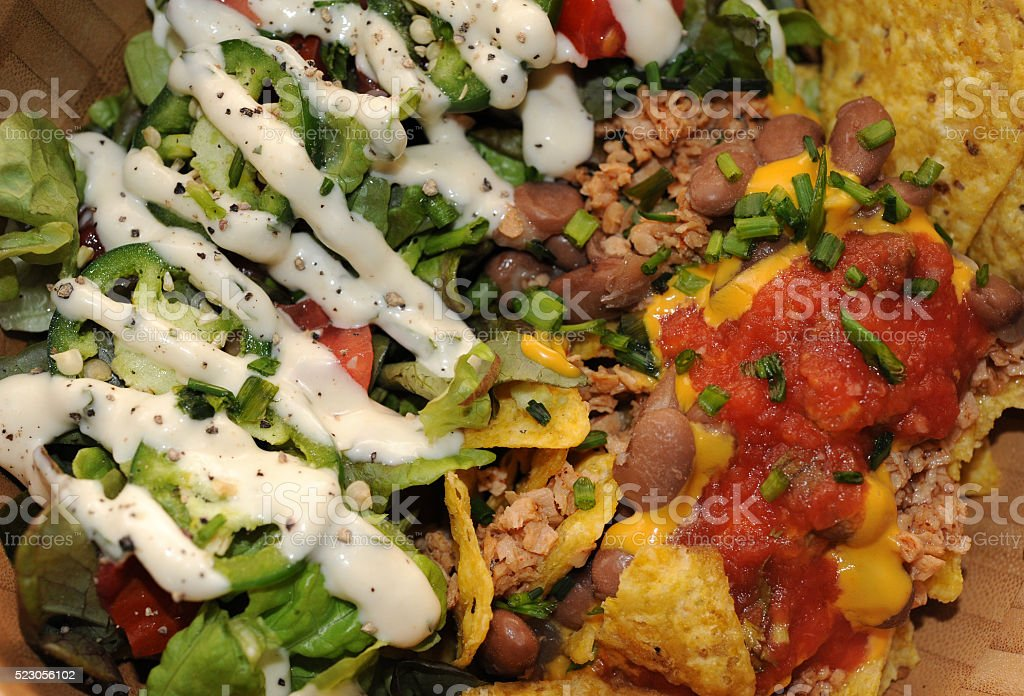 Taco Salad Above stock photo