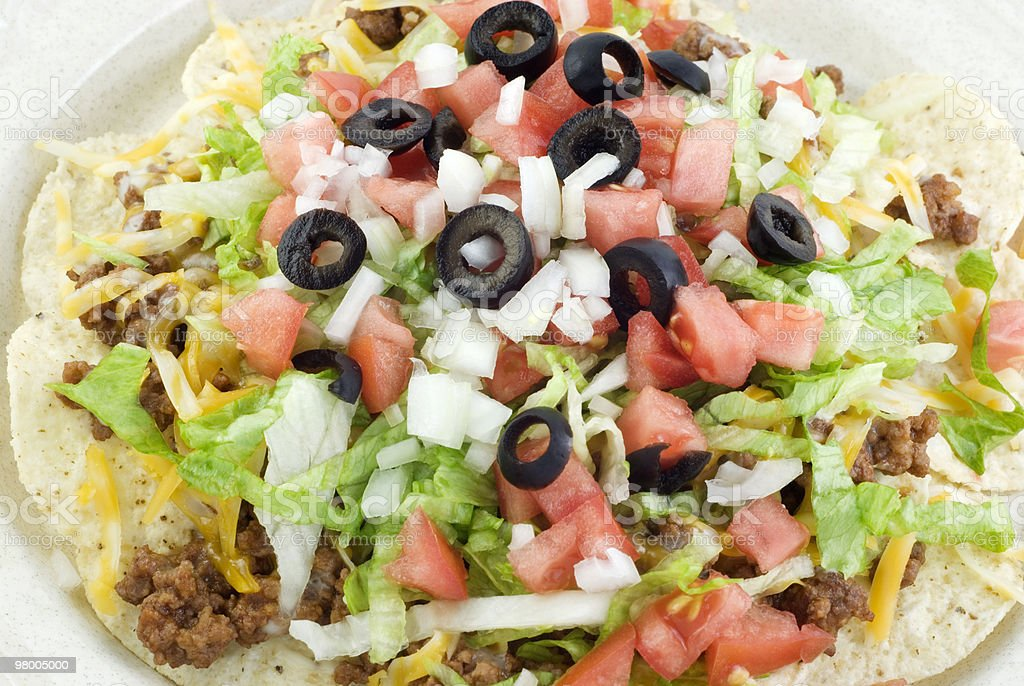 Salada Taco detalhe foto royalty-free