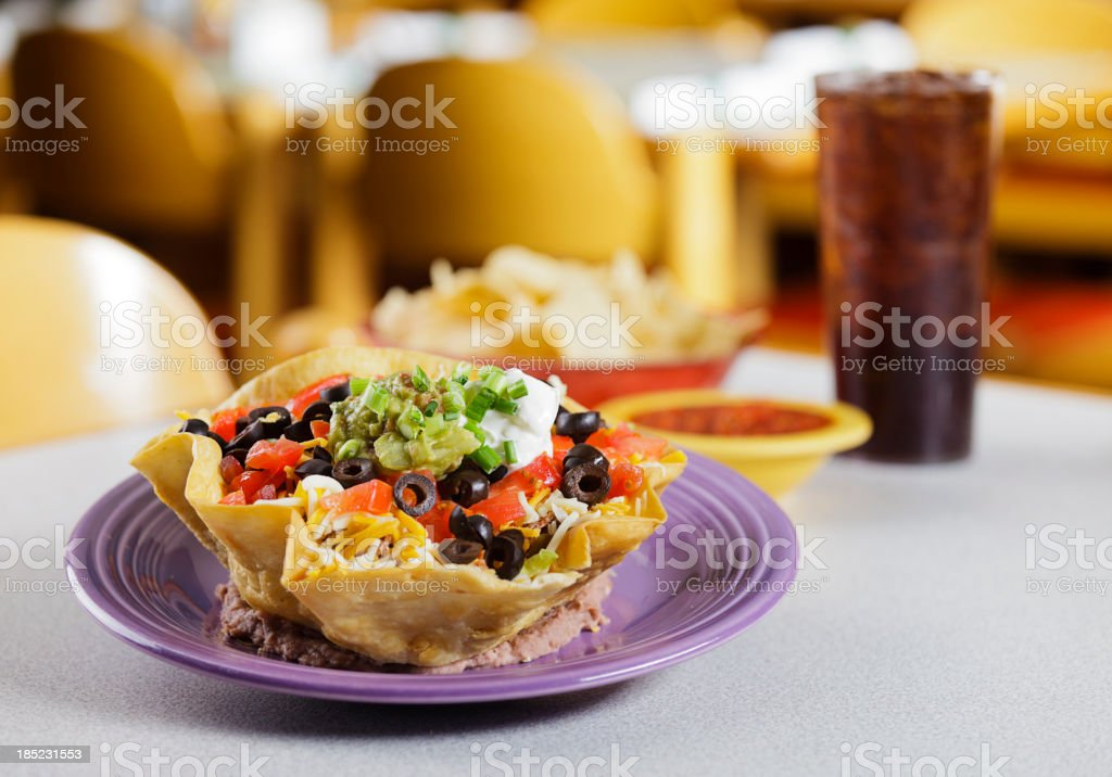 Taco Salad stock photo