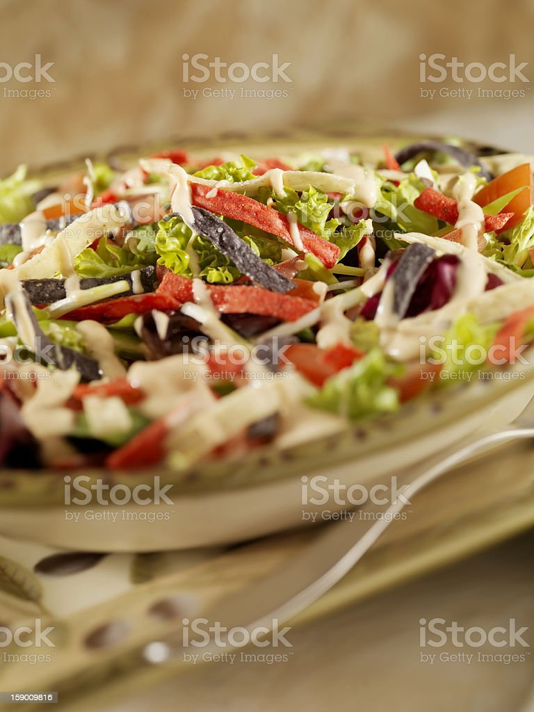 Taco Salad with Chipotle Dressing stock photo