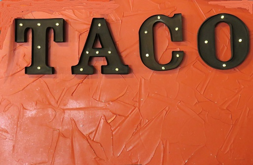 Taco Sign Stock Photo - Download Image Now