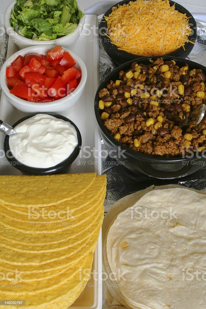 taco & toppings royalty-free stock photo