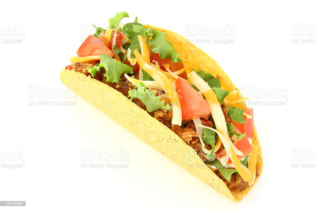 Taco With Refried Beans stock photo