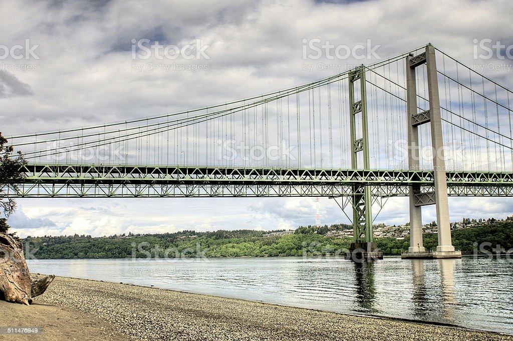 Tacoma Narrows Bridge stock photo