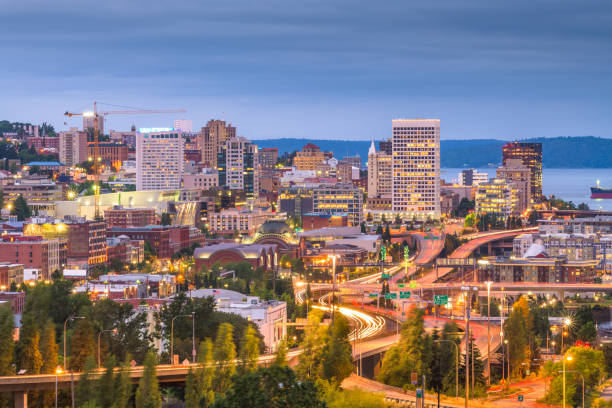 Tacoma, Washington, USA Skyline – Foto