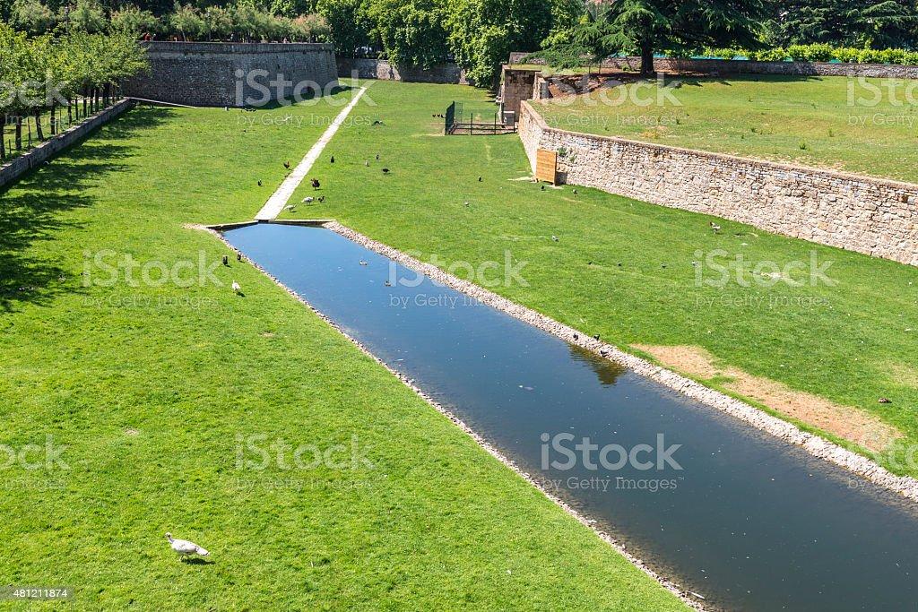 Taconera Park, Pamplona (Spain) stock photo