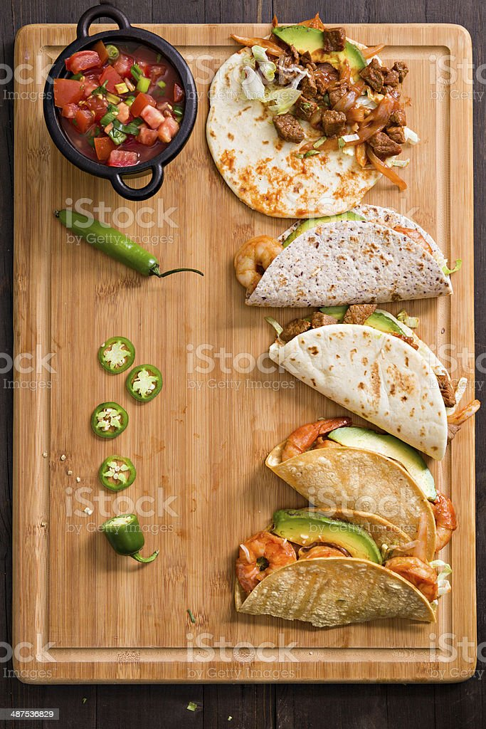 Tacos And Salsa stock photo