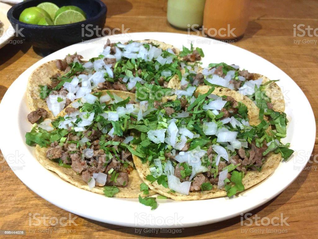 Tacos de bistec stock photo