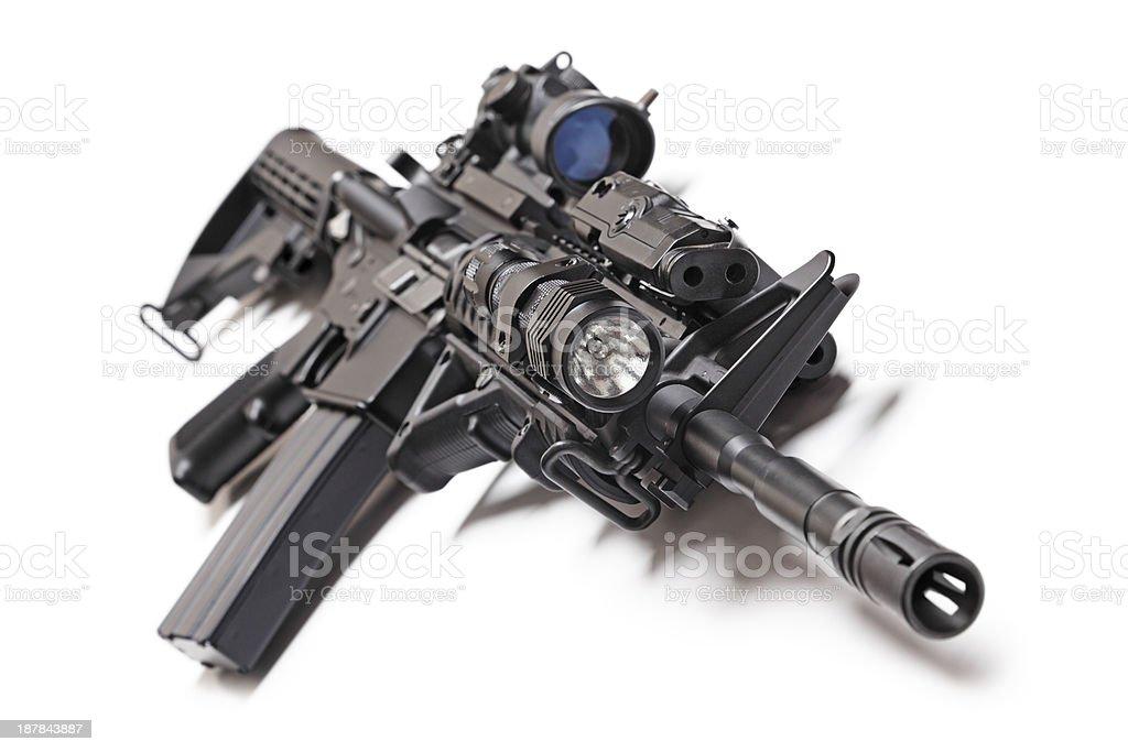 AR-15 tactical carbine stock photo