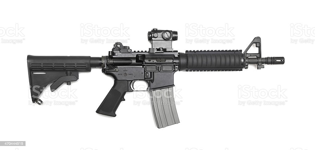 AR-15 10,5' (M4A1 CQBR) tactical carbine royalty-free stock photo