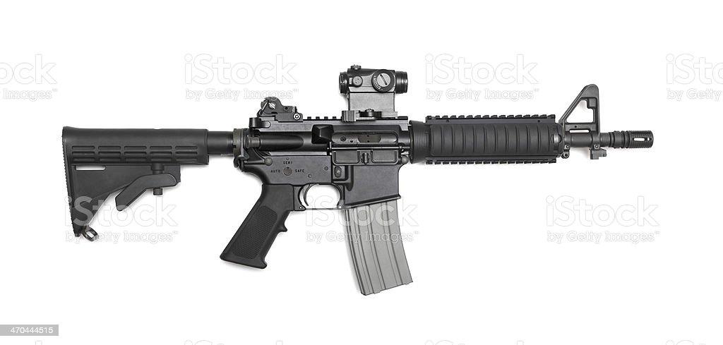 AR-15 10,5' (M4A1 CQBR) tactical carbine stock photo