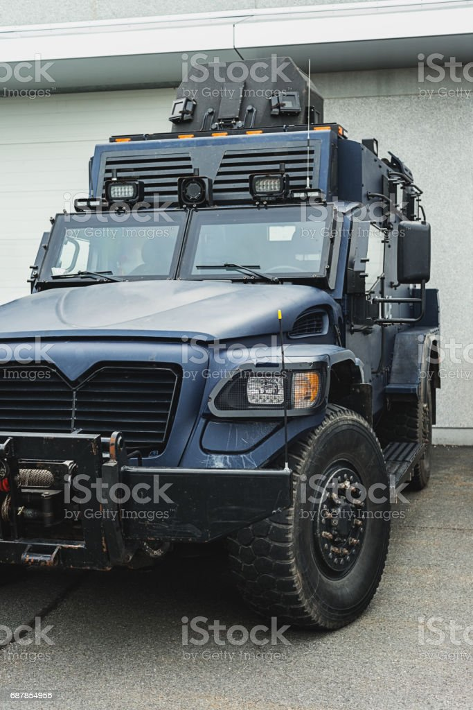 Tactical Police Vehicle stock photo