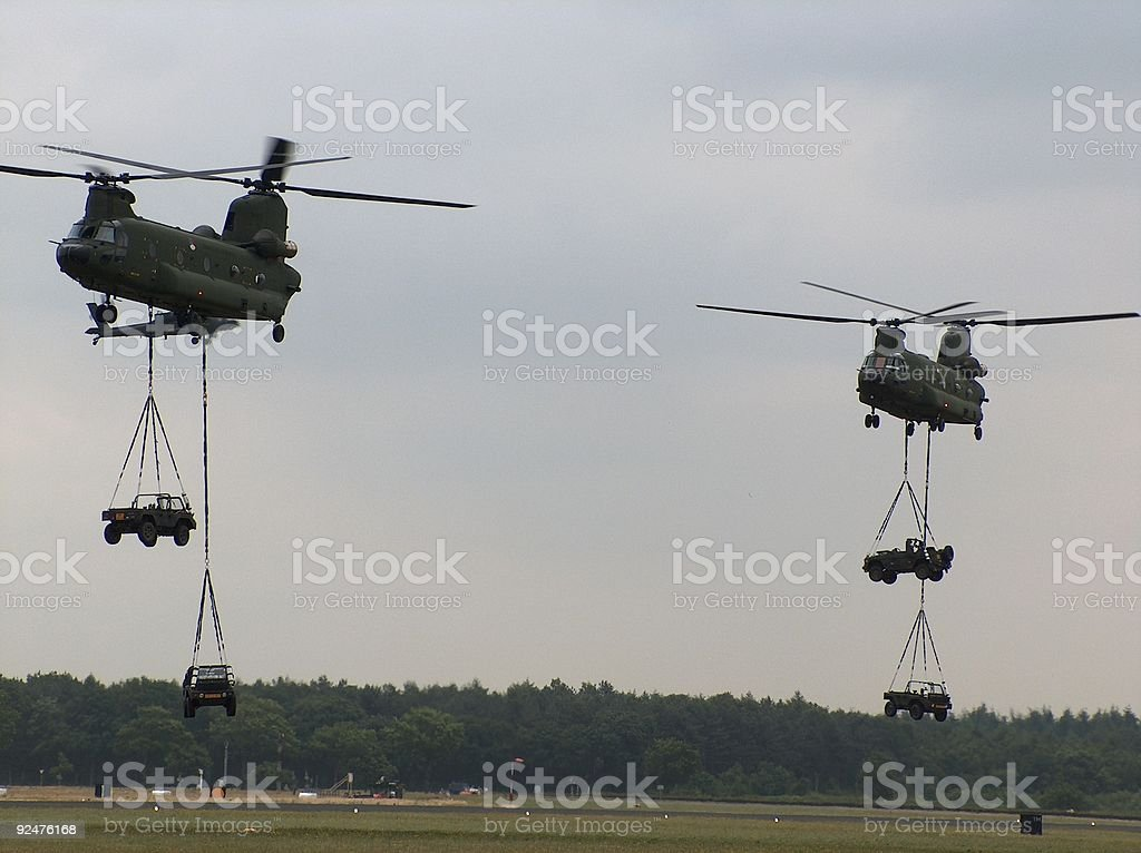 tactical transportation chinook helicopter royalty-free stock photo