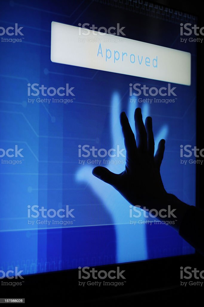 Tactile screen security royalty-free stock photo
